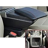 Pour Focus 2 MK2 2009-2012 Voiture Accoudoir Accessoire Avec porte-gobelet Cendrier amovible Noir