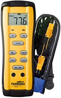 Fieldpiece ST4 Dual Temperature Meter, -58 to 2000F(-50 to 1300C)