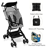 BABY JOY Lightweight Stroller, Pocket Folding Stroller with Aluminum Structure, Airplane Compartment Portable, Includes Travel Bag, No Assembly Needed (Gray)