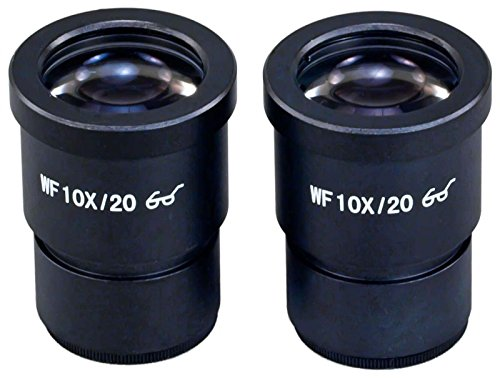 OMAX A Pair of WF10X/20 Widefield Eyepieces for Microscope 30.0mm