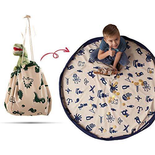 snugo® Pirat Aufräumsack Made in Germany   Spielsack & Spielmatte in Einem für Kinder & Baby   Ideal für die Aufbewahrung von Spielzeug, Lego und Spielsachen