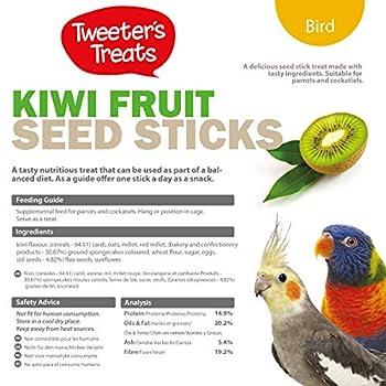 Tweeter de friandises Bâtons de graines pour Les perroquets, Miel