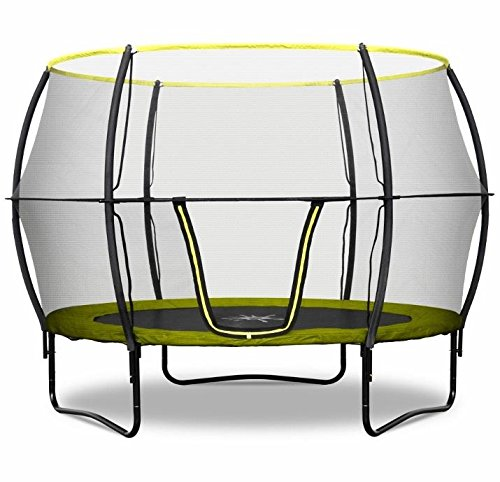 Rebo Base Jump 10FT Trampoline With Halo II Enclosure