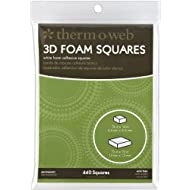 Thermoweb 3777 Adhesive Foam Squares Combo Pack .5 and .25IN ASST 440CT, Multicolor