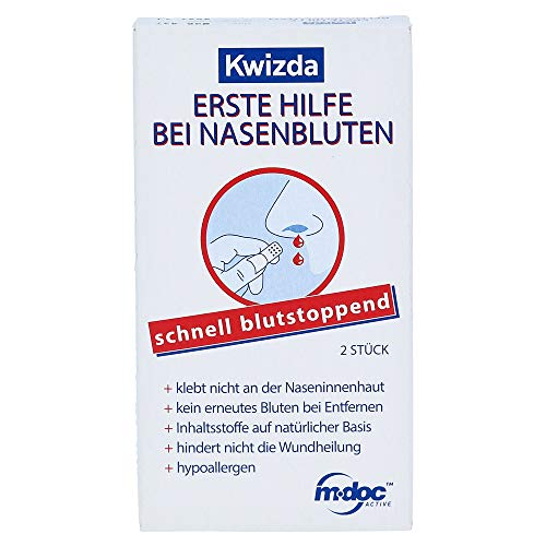 KWIZDA Erste Hilfe bei Nasenbluten Nasenstoepsel, 2 St