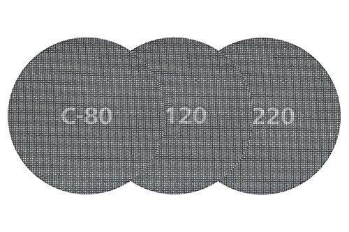 Wolfcraft 5617000 tejidos de rejilla adherentes, carburo de silicio, grano 80, para lijadores de plafones y pared PACK 5, 0 W, 0 V, rojo, 225 mm, Set de 5 Piezas