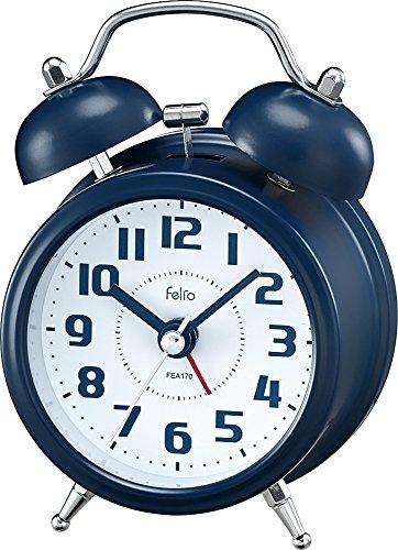 Felio(フェリオ) 目覚まし時計 非電波 アナログ タルト ツインベル ネイビーブルー FEA170NB-Z