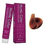 Mystic Color - Coloración Permanente en Crema con Aceite de Argán y Caléndula - Tinte de Larga Duración - Tinte Rubio Cobrizo Dorado Permanente 7.43 - 100ml