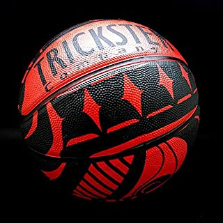 Trickster Company Northwest Coast Native Art Basketball - Beast Collective (Red/Black Size 7)