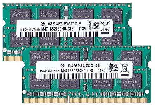 PC3-8500(DDR3-1066) SO-DIMM 4GB×2枚組 メモリンゴブランドノートPC用メモリ iMac/Mac mini/MacBookPro対応対応