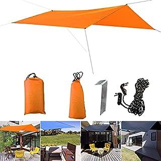 3 x 3 m solskydd markis tält presenning utomhus camping regn fluga anti-UV strand tält skugga camping solskydd tak – orang...