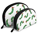 Very Hungry Caterpillar Travel Portable Cosmetic Bags Organizer Set of 2 for Women Teens Girls