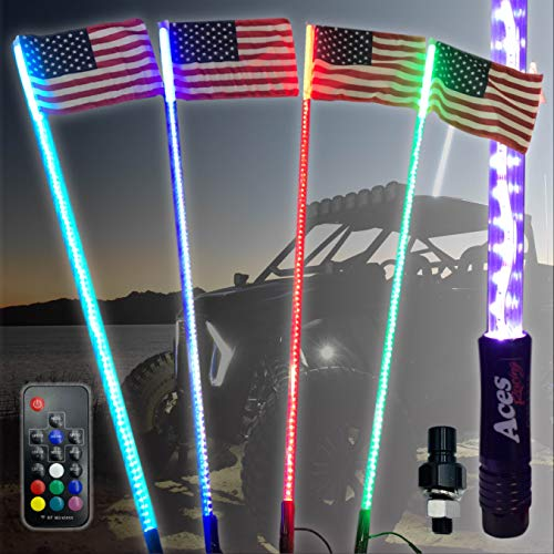 G2 5ft 20 Color 200 Combination LED Lighted Whip