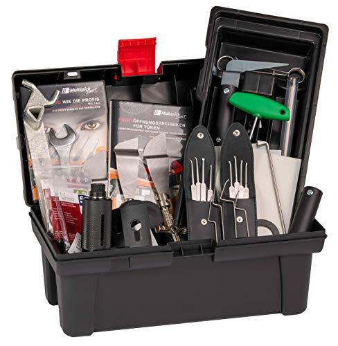 Multipick Hausmeister Kiste Pro II – Schlüsseldienst Werkzeugkoffer zum Öffnen verschiedener Schlösser – Türöffner Set für Profis – Made in Germany