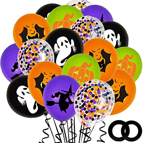 62PCS Halloween Party Balloons Decorations, 12...