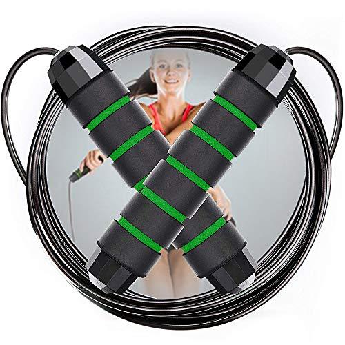 NOCHME Springseile Erwachsene Fitness Damen Männer, Länge Einstellbar Speed Jump Rope Sprungseil Mit Verwickelungsfreiem PVC-beschichtet Stahl Seil Seilspringen Für Sport Boxen Training Crossfit MMA
