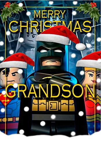 Tarjeta de Navidad para nieto - Batman Lego - todo color en el interior