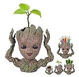 Diligencer Cute Baby Groot Planter Flowerpot Tree Man Flower Pot Con Orificio De Drenaje Pencil Pen Holder Para Exterior...