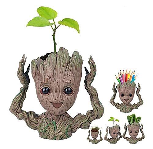 Baby Groot Blumentopf Baum Mann Pflanzer Blumentopf Mit Drainage Loch Bleistift Stifthalter, Fleiß Büro Party Ornament Weihnachten Geburtstagsgeschenk Pflanzer 6