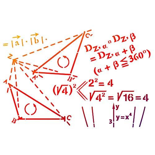 Pochoir « Mathématiques »