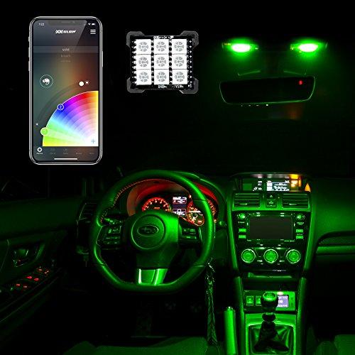 T10/BA9s/Festoon Bluetooth LED Panel Bulb XKchrome App Controlled Wireless Car/Truck Interior Light LED, Dome Light, T10, BA9S, Festoon Adapters, 29  33mm Festoon, 1156, 1157, 3156, 3157