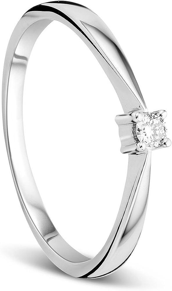 Orovi anello da donna  in oro bianco 9 kt / 375 gr 0,97,e diamante ct 0.05 OR8948R50
