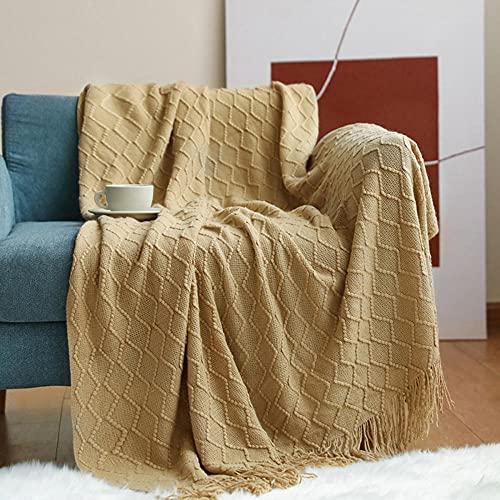 Coperta morbida - tante dimensioni e colori diversi - coperta in microfibra da soggiorno copriletto copri divano - vello in microfibra di flanella -Cammello_130 * 200 cm.