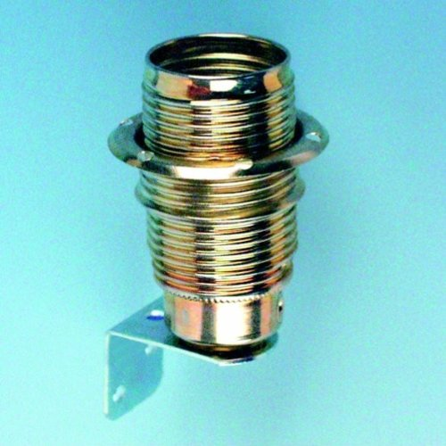 Fassung E14 Metall    mit Winkel messing