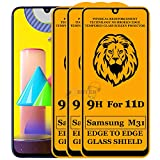 Xester® 11D Tempered Glass Screen Protector Compatible with Samsung Galaxy M31(Black) Edge to