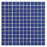 Cottoceram Mosaico de Cristal Templado enmallado de 30x30cm. Azul. No es Gresite