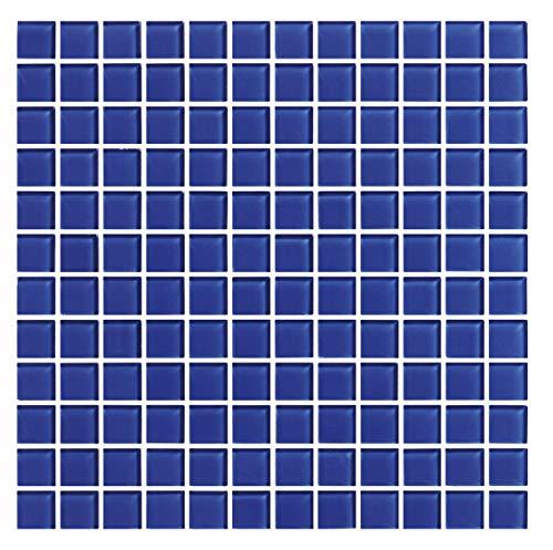 Cottoceram Mosaico de Cristal enmallado de 30x30cm. Azul Cobalto