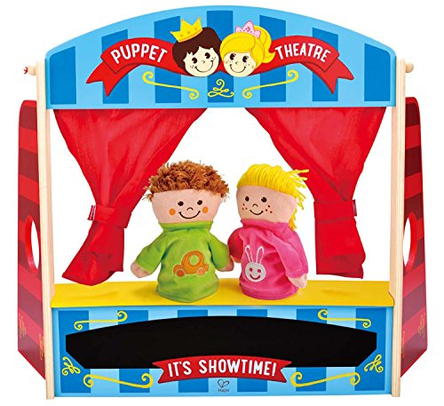 Hape Wooden Puppet Stage Playhouse Set with Accessories