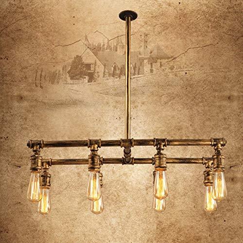 YANGSANJIN 8 hoofd vintage industriële koperen pijp armatuur water pijp plafond lamp retro hanglamp home deco kroonluchter hal woonkamer lamp slaapkamer keuken