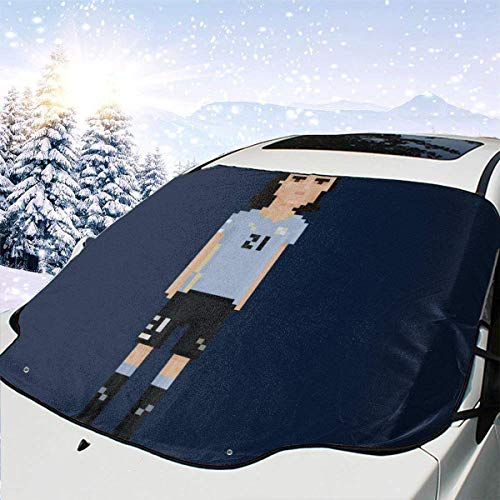 GOSMAO Protector de ParabrisasPixel Edison Cavani Cubierta de Parabrisas Coche Protege de Rayos Antihielo y Nieve,UV,Lluvia,Funda Plegable Delantero 147 * 118cm