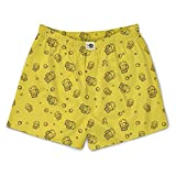 The Souled Store Beer Pattern Mens and Womens Graphic Printed Cotton Boxer Yellow