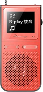 Mp 3 Portable Player with Radio Fm Mp-3 Walkman Mp3 Player with Built-in Speakers Can Playing 100hours USB Speaker Lond Sp...