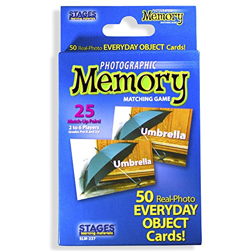 Stages Learning Materials Picture Memory Everyday Objects Card Game Blue Size 5 x 3