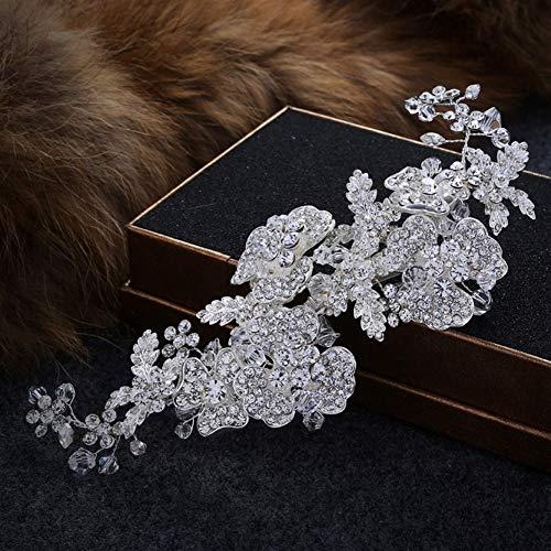King Boutiques New Luxury Wedding Wedding Crowns Fasce Argento Colore Tiara Austria Crystal Strass Hair Band Gioielli for Capelli da Sposa