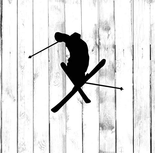 H421ld Skiing Freestyle, Crossed Skis - Calcomanía para coche, camión, hogar, ordenador portátil
