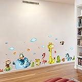 ZYBKOG Wandaufkleber Lustige Tier Party Basis Wandaufkleber Pflanzenwand DIY Kunst Poster Abnehmbare Aufkleber Für Junge Kinder Küche Bal