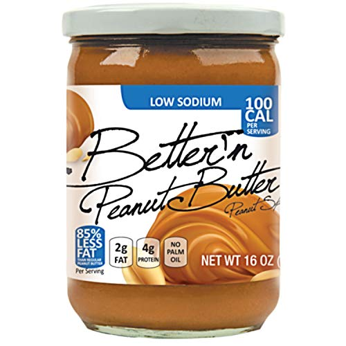 Better N Peanut Butter Low Sodium Low Fat Peanut Spread 16 oz