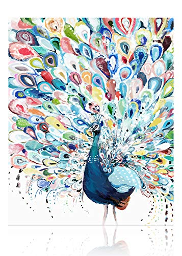 SUMGAR Pintar por Numeros Adultos Niños Multicolor Pavo Real Cuadros para Pintar por Numeros Equipo De Bricolaje Pintura por Números en Lienzo DIY Paint by Numbers Adult 40 x 50 cm (sin Marco)