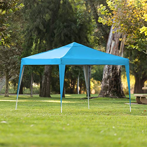 Best Choice Products Outdoor Portable Lightweight Folding Instant Pop Up Gazebo Canopy Shade Tent w/Adjustable Height, Wind Vent, Carrying Bag, 10x10ft - Light Blue