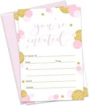 Best pink polka dot party invitations Reviews