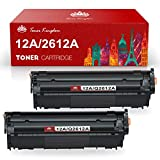 Toner Kingdom Compatible Toner Cartridges Replacement for HP 12A Q2612A Use with Laserjet 1010 1020 1012 1018 1022 1022n 3015 3020 3030 3050 3052 3055 M1319F Printer (Black, 2-Pack)