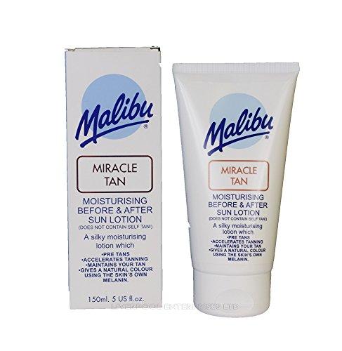 MALIBU SUN LOTION LOW MEDIUM HIGH 200ml 150ml 100ml ALL SPF AVAILABLE UVA/UVB (miracle tan 150ml) by LIVERPOOL ENTERPRISES LTD