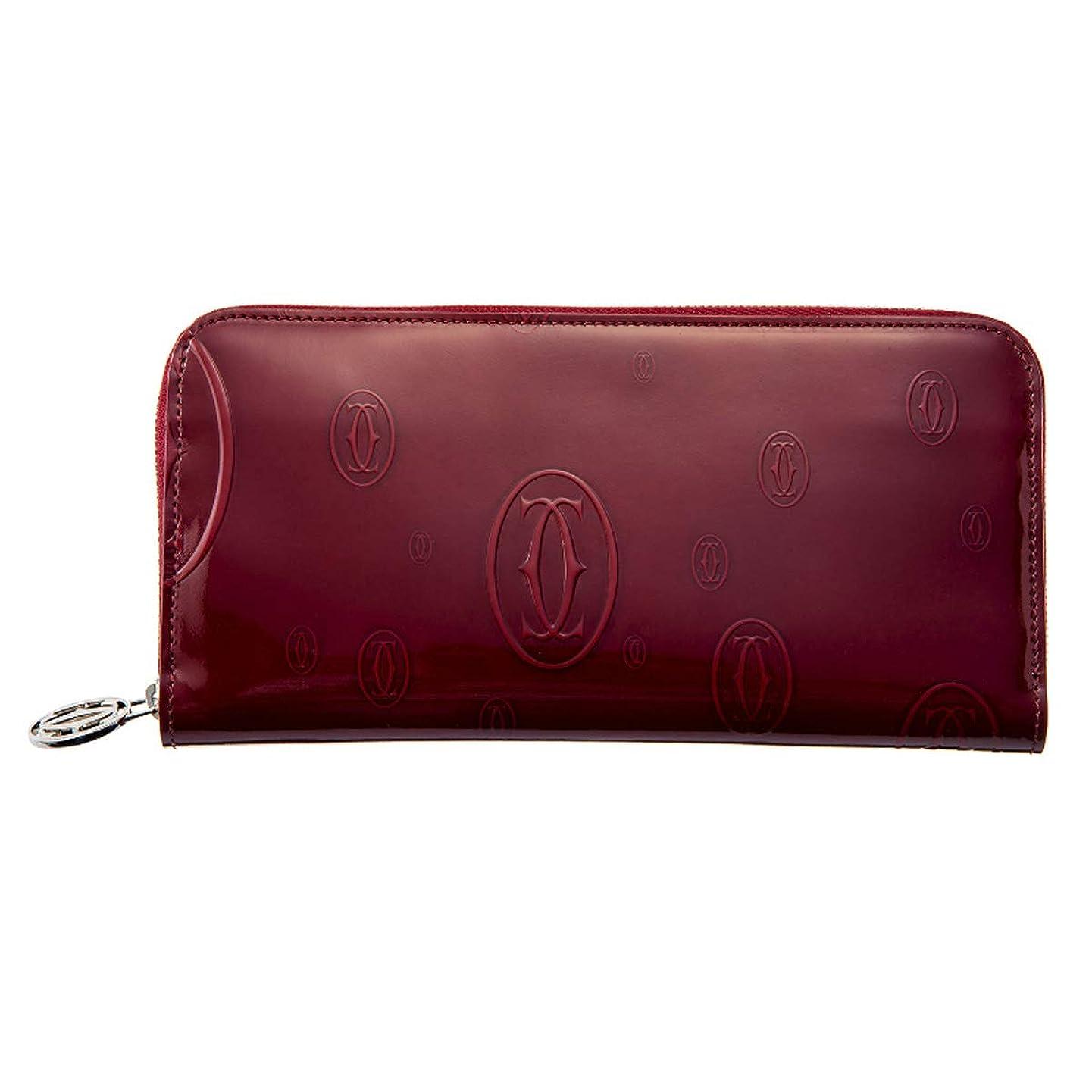 持続する生理地下鉄[カルティエ] 財布 長財布 ラウンドファスナー L3001283 zipped international wallet HAPPY BIRTHDAY 2C Bordeaux ボルドー シルバー [並行輸入品]