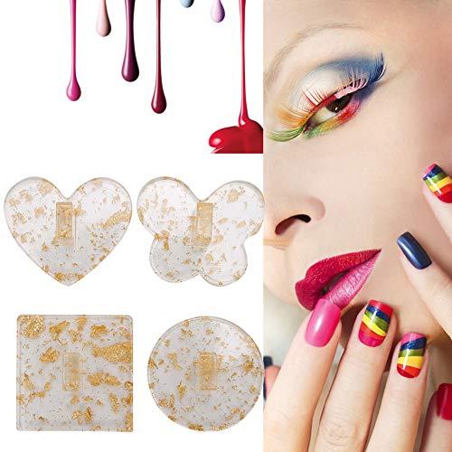 4 pcs Nail Conseils Stand Titulaire, Nail Conseils Stand Titulaires Professionnel Manucure Conseils Titulaire Outil Nail Art Pratique Présentoir pour La Maison Nail Salon(3)