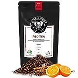 Edward Fields Tea ® - Té Rojo Pu Erh orgánico a granel con Canela y Naranja. Té bio recolectado a mano con ingredientes naturales, 100 gramos, China.