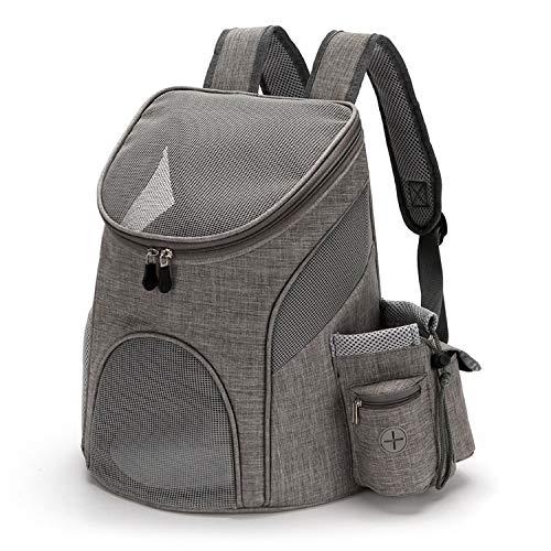 PETCUTE Hunderucksack Katzenrucksack Rucksack für kleine Hunde Haustiertragetasche Taschen mit Abnehmbarer Matte